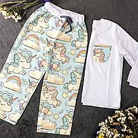 Хлопковая пижама с кофтой Единороги XL, фото 1