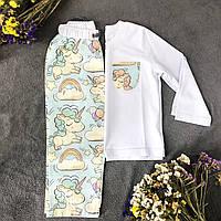 Хлопковая пижама с кофтой Единороги М, фото 1
