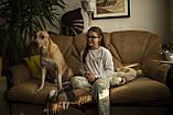 Детская хлопковая пижама с кофтой Единороги 134 см, фото 7