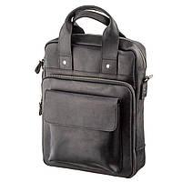 Мужская сумка вертикальная SHVIGEL 11169 под А4 матовая Черная, фото 1