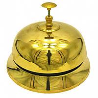 Колокольчик портье бронзовый Ø-17,5см., h-13см. 18066