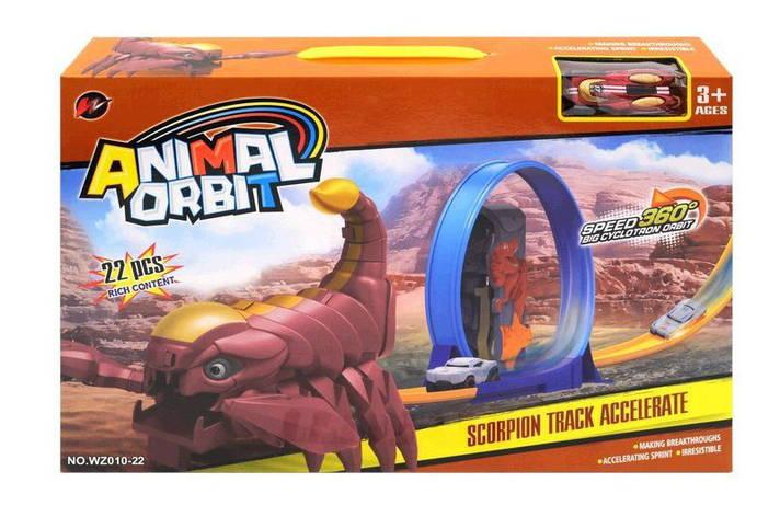 """Трек """"ANIMAL ORBIT"""" """"Скорпіон"""" (коробка, 22деталі)  WZ010-22 р.45*7,5*29 см, фото 2"""