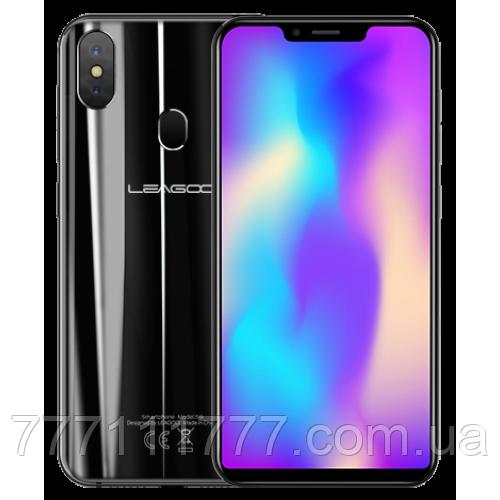 Смартфон с большим дисплеем и отпечатком пальца сзади на 2 сим карты Leagoo S9 black 4/32GB
