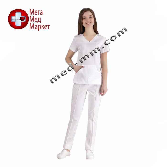 Медицинский костюм Сидней белый №1036