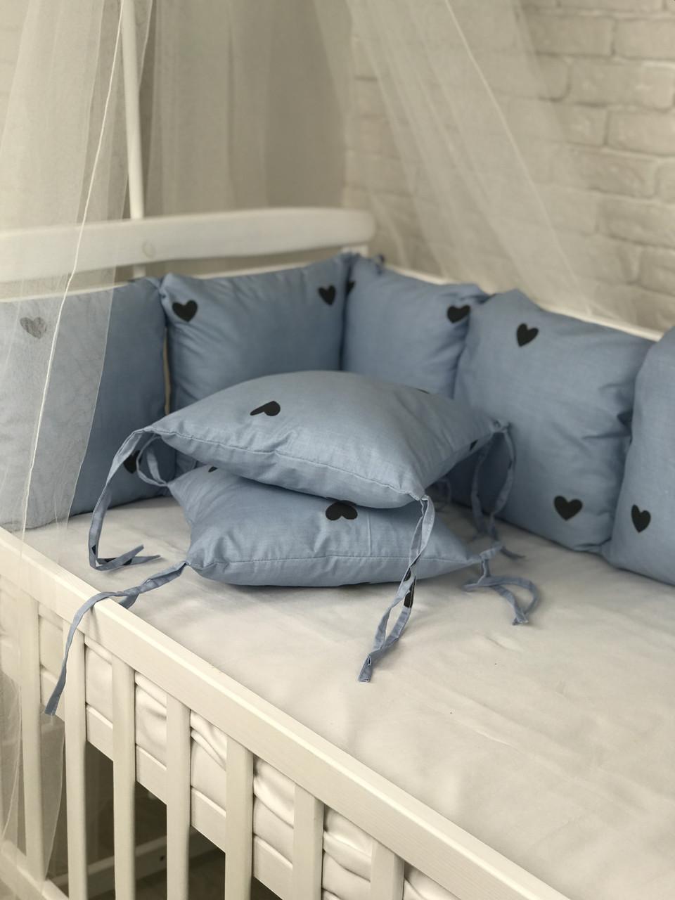 Комплект бортиків у ліжечко(12 шт)