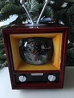 """Новогодний музыкальный декор """"Телевизор большой"""" LED 28x18x54,5 см"""
