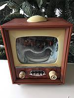 """Новогодний музыкальный декор """"Телевизор маленький"""" LED 11x9x25,5 см"""