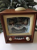 """Новогодний музыкальный декор """"Телевизор маленький"""" LED 15х9х23см"""