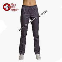 Медицинские штаны темно-серые №4
