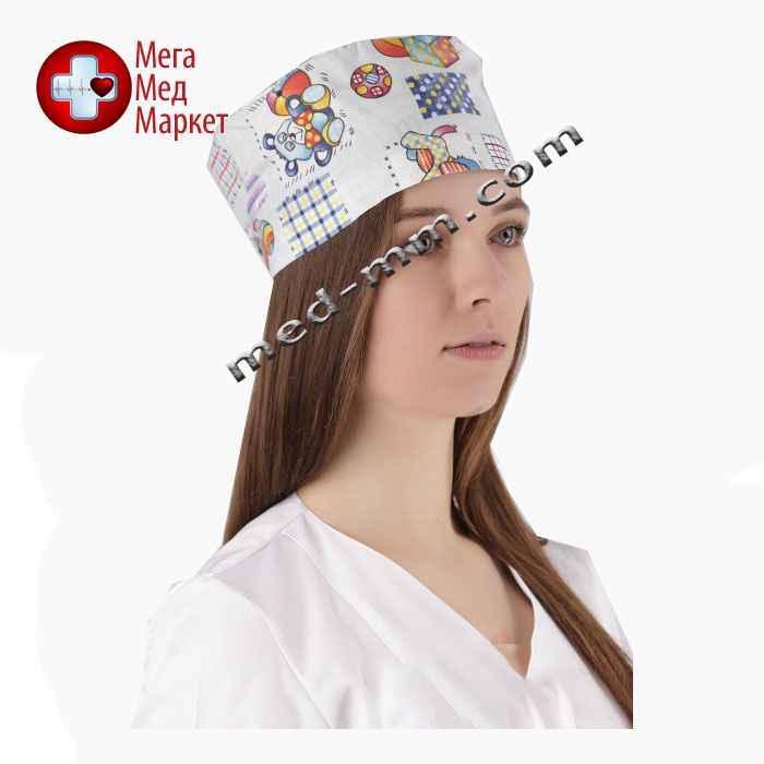 Медицинская шапочка принт №10