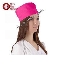Медицинская шапочка розовая №1