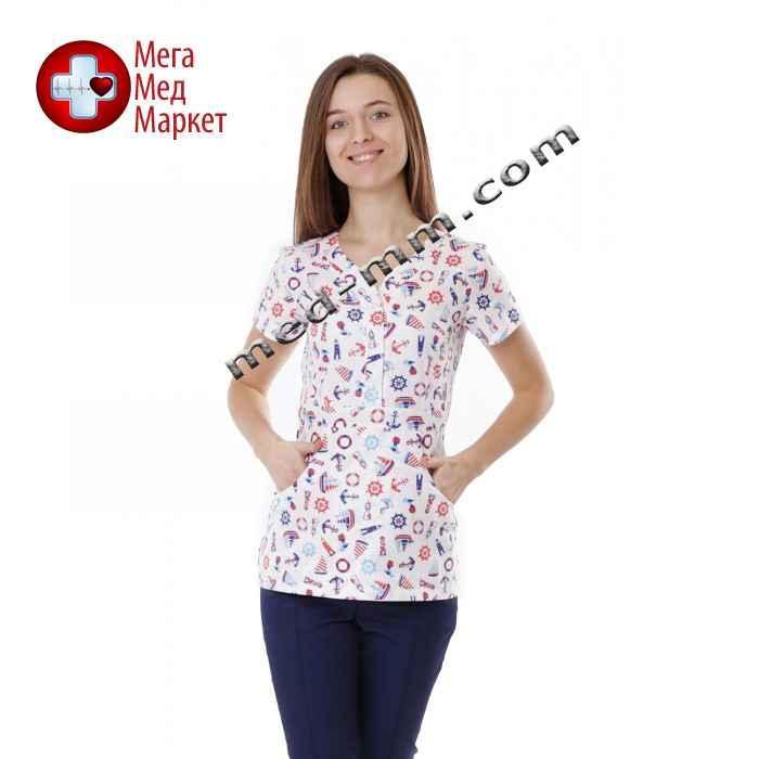 Медицинская куртка женская Бали Морские №1118