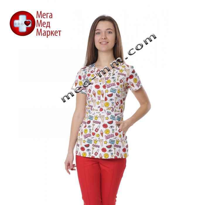 Медицинская куртка женская Бали Смайлы №1117