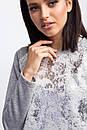 Трикотажный спортивный костюм NILDA с люрексом и блестящим серебристым напылением, фото 7