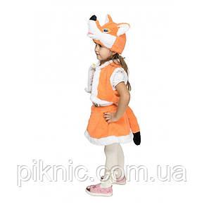 Костюм Лисички 3,4,5 лет. Детский новогодний карнавальный костюм Лиса для девочки 342, фото 2