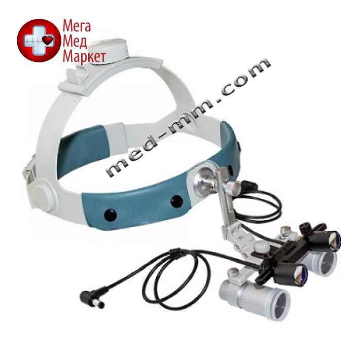 Бинокулярный увеличитель ECMP-4,0x-R ErgonoptiX микро Призм с осветителем D-Light Duo, обруч головной