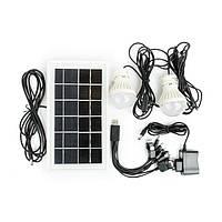 Intertool LB-0105 Фонарь аккумуляторный 1LED 5W+22 SMD, выносная солнечная панель, выносные 2 led лампы, кабель для зарядки телефона-планшета