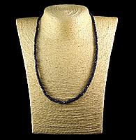 Бусы из натурального синего Сапфира (индия), фото 1