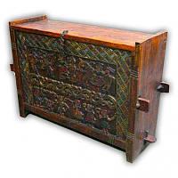 9140102 Тумба деревянная с росписью