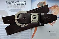 Женский ремень Gucci темно-коричневый