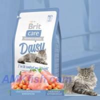 Brit Care Cat Daisy Ive to control my Weight корм для кошек с избыточным весом с индейкой и рисом, 7кг