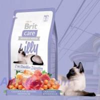 Brit Care Cat Lilly Ive Sensitive Digestion корм для кошек с чувствительным пищеварением с ягненком и лососем, 2кг