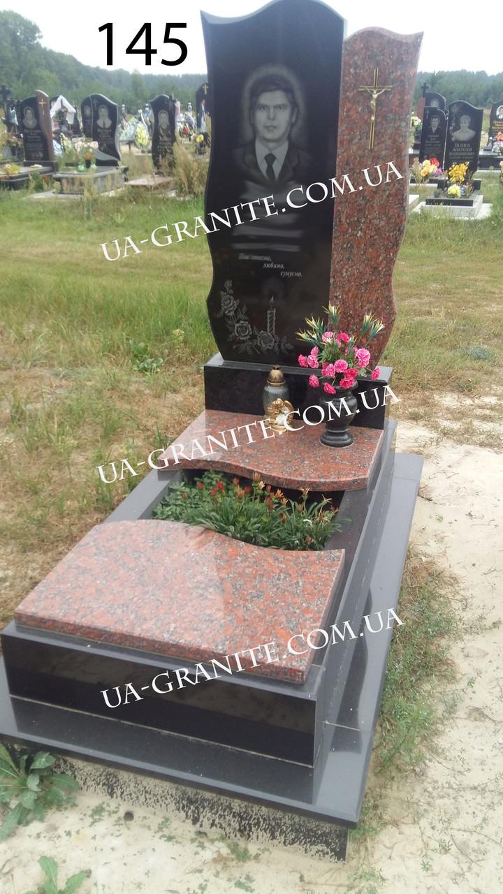 Елітний пам'ятник із граніту комбінований