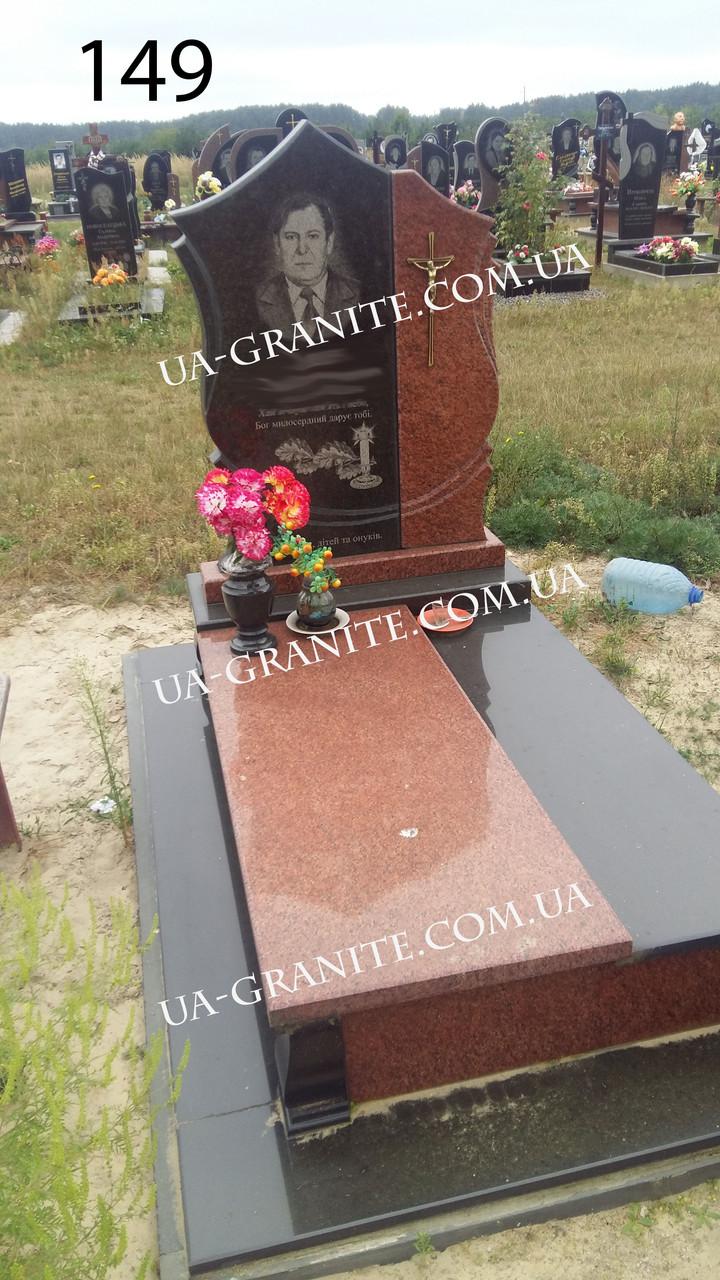 Елітний пам'ятник чоловічий із червоного граніту