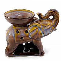 """Аромалампа """"Слон"""" коричневая 9х11,5х8 см 24552D"""