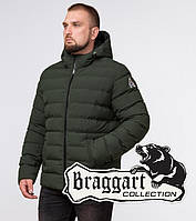 Braggart Aggressive 45115   Теплая мужская куртка т.зеленый-черный