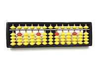 Счеты абакус соробан с желтыми косточками ментальная арифметика 13 рядов