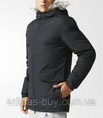 Куртка парка мужская adidas зимняя оригинал чёрная