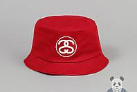 Красная модная панамка мужская