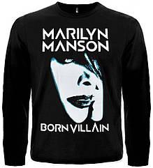 "Футболка с длинным рукавом Marilyn Manson ""Born Villain"", Размер S"