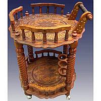 Стол сервировочный круглый розовое дерево 21620