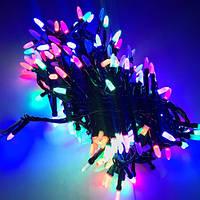 Гирлянда Кристалл матовый 300 LED 14 м Мультицветная новогодняя, фото 1