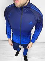 Мужской спортивный костюм Адидас темно-синий (реплика)