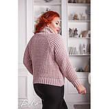 Женский вязаный свитер с горловиной удобный и теплый нить марс размер универсальный 48-54, фото 7