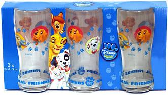 Прозрачный набор стаканов для сока и воды с рисунком - Luminarc ANIMAL FRIENDS 3 шт 270мл 3шт.