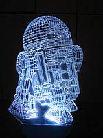 Съемная пластина с рисунком к ночнику, R2D2 (Звездные войны, Star wars)
