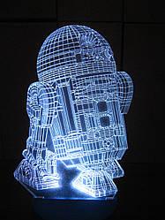 Зйомна пластина з малюнком до нічника, R2D2 (Зоряні війни Star wars)