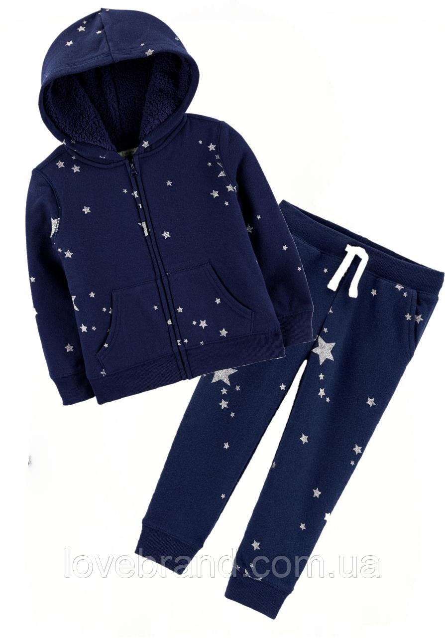Спортивный костюм OshKosh для девочки на флисе синий, очень теплый 7 л./122-128 см