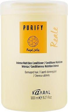 Кондиционер Kaaral REAL для волос интенсивный питательный с маточным молочком, 250мл 1000 мл