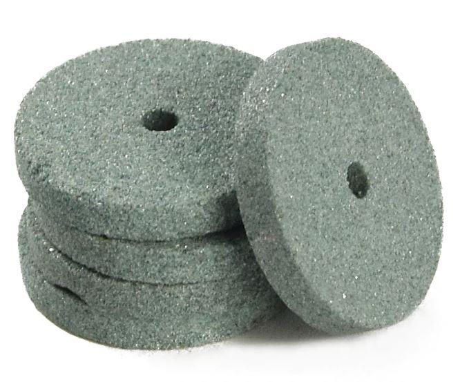 Шлифовальная насадка - диск 20 мм, зеленый. Абразивная шарошка. 1 шт