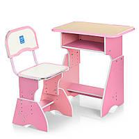 Детская парта со стульчиком Bambi Розовая (HB-2029K-8)