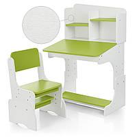 Парта для школьника Bambi Бело-зеленая FB2071-2