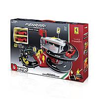 Ігровий Набір - Гараж Ferrari 3 Рівня, 2 машинки (1:43), Bburago, фото 1