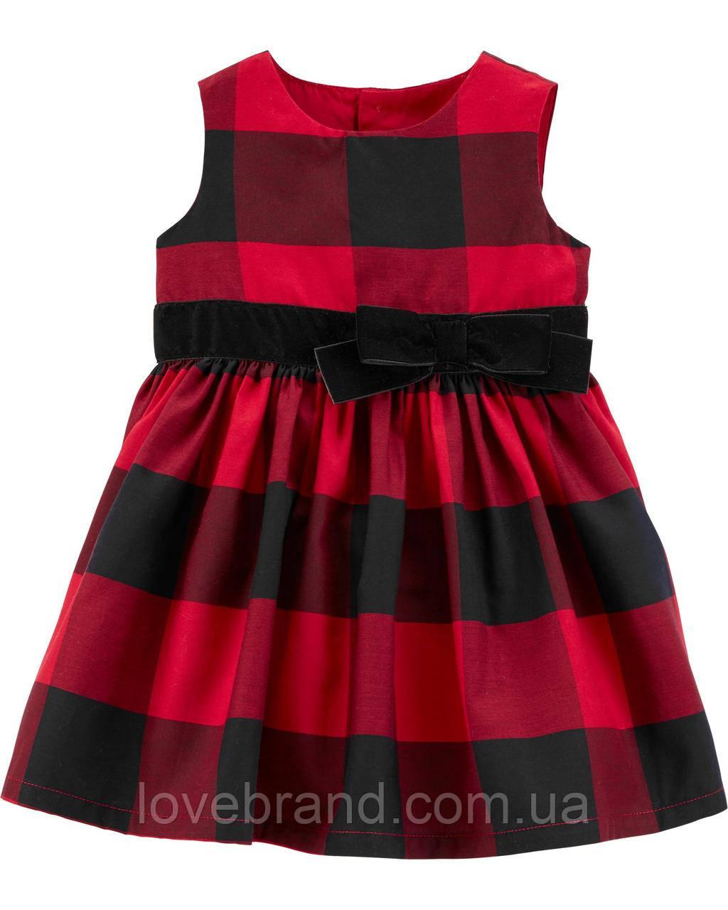 Нарядное платье для девочки Carter's красное в клеточку 18 мес/78-83 см