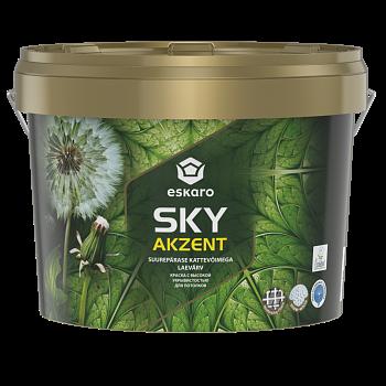 Краска для потолков белоснежная глубокоматовая ESKARO Akzent SKY, 2,7л, фото 2
