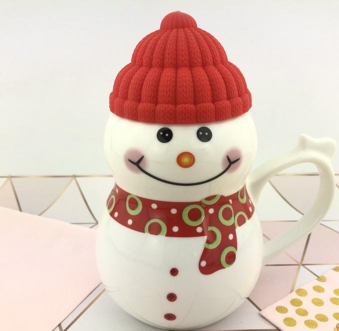 Чашка керамическая снеговик новогодняя кружка SNOWMAN